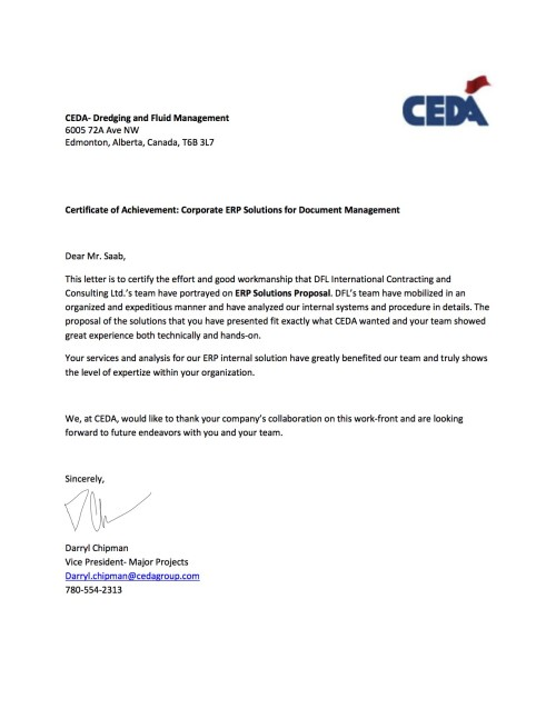 CEDA Industrial Services LP- ERP Solutions-signed